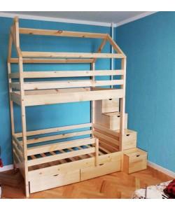 Кровать-домик УЮТ-3 (с лестницей-комодом)