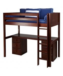 Кровать-чердак АЛЬФА ( с письменным столом )